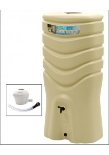 Récupérateur d'eau 350l beige