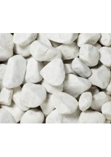Galet marbre blanc 30/60 25kg