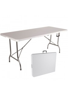 Table résine blanche pliante